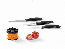 Brúska na nože + sada 3 nožov Delimano Brava Extreme