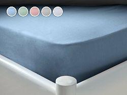 Posteľná plachta Essentials Dormeo, 120x200 cm, modrá
