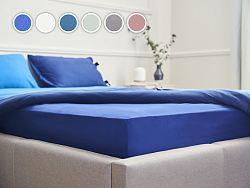 Posteľná plachta Essentials Dormeo, 90x200 cm, modrá